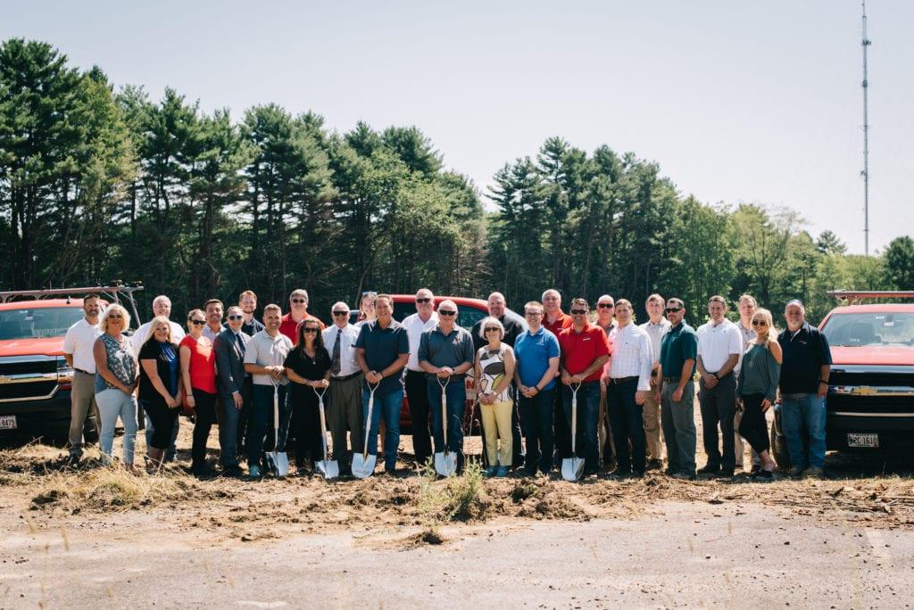 Team at Hancock Lumber Site